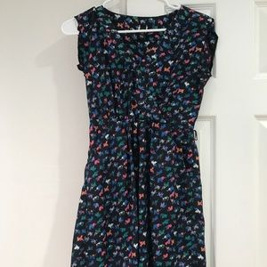 Multicolored Elephant Print Dress with POCKETS